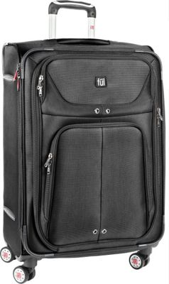 ful Alliance Series 24'' Upright Upright Spinner Black - ful Softside Checked
