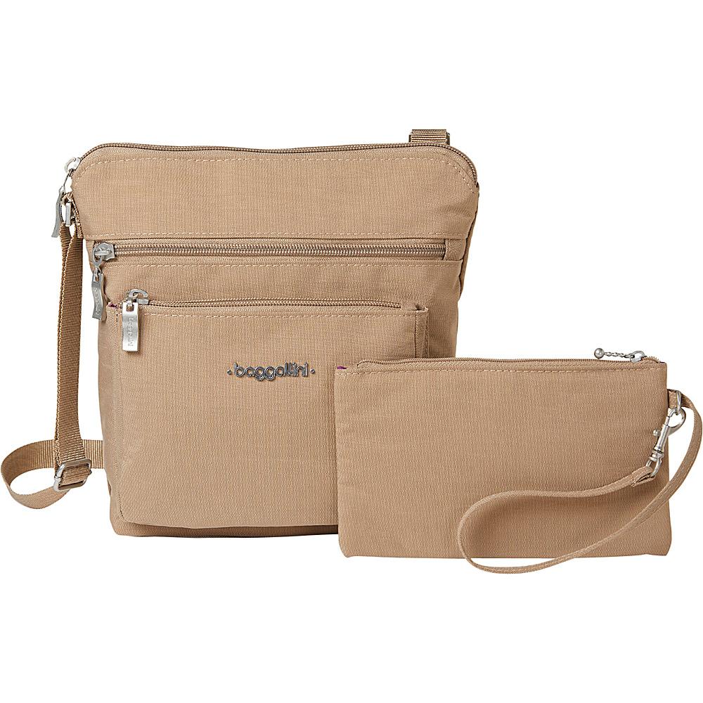 baggallini Pocket Crossbody with RFID Beach - baggallini Fabric Handbags - Handbags, Fabric Handbags