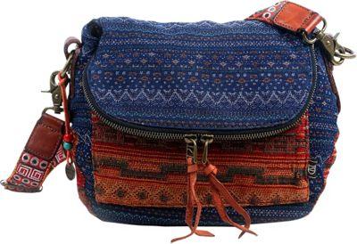 TSD Tribal Secret Crossbody Orange/Navy - TSD Fabric Handbags