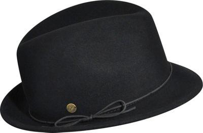 Karen Kane Hats Snapback Felt Fedora Black-Medium/Large - Karen Kane Hats Hats/Gloves/Scarves
