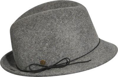 Karen Kane Hats Snapback Felt Fedora Slate Mix-Medium/Large - Karen Kane Hats Hats/Gloves/Scarves