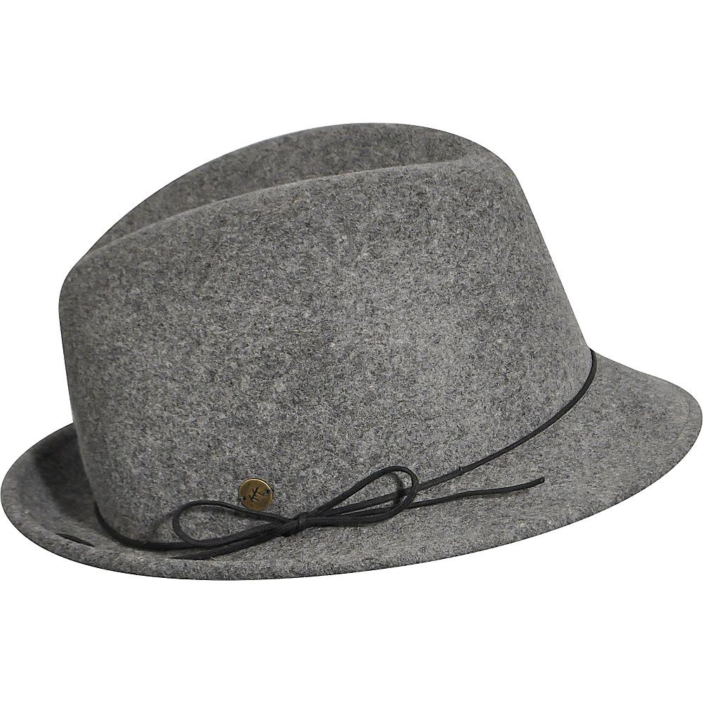 Karen Kane Hats Snapback Felt Fedora Slate Mix Medium Large Karen Kane Hats Hats Gloves Scarves
