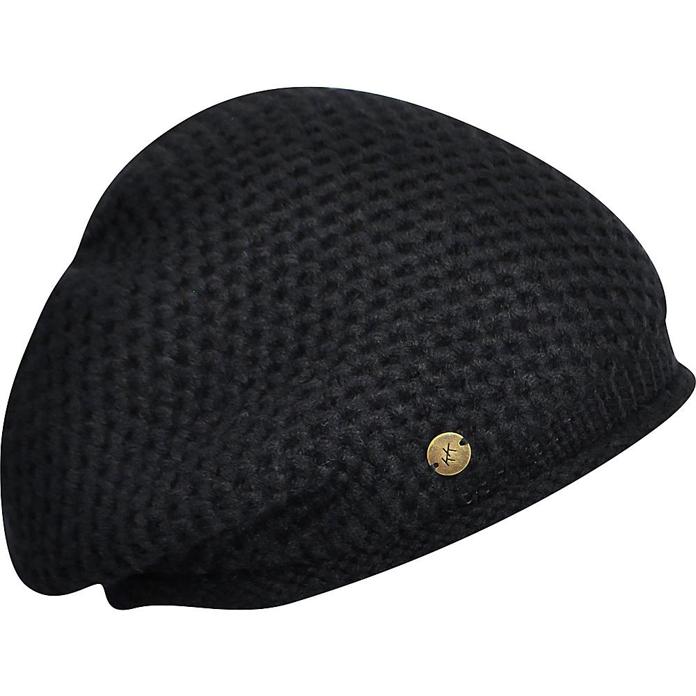 Karen Kane Hats Oversized Knit Beanie Black Karen Kane Hats Hats Gloves Scarves