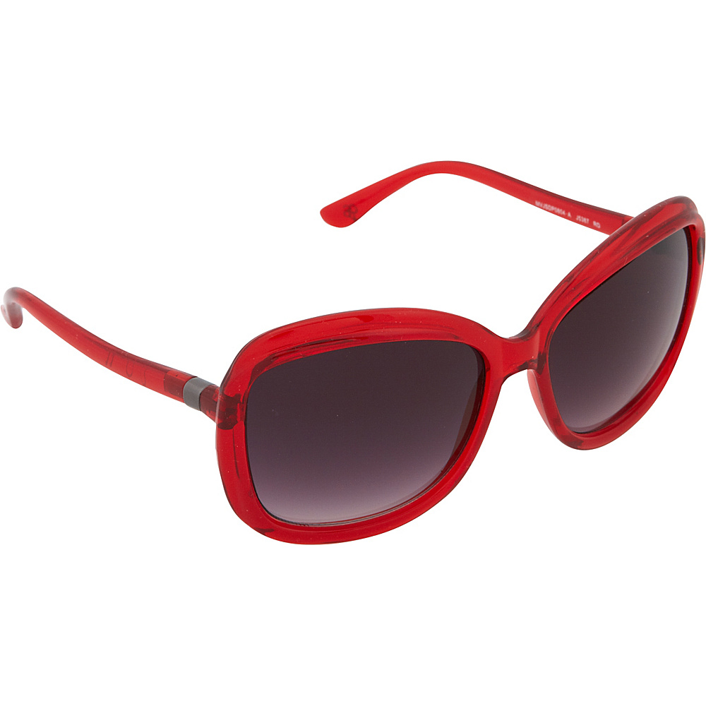Jessica Simpson Sunwear Rectangle Sunglasses Red - Jessica Simpson Sunwear Sunglasses
