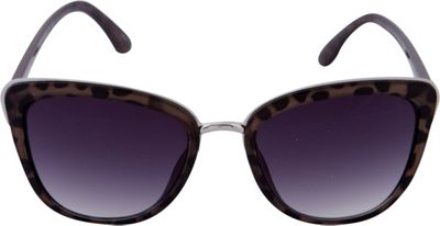 Laundry by Shelli Segal Sunglasses Cat Eye with Metal Accents Sunglasses Black/Animal - Laundry by Shelli Segal Sunglasses Sunglasses