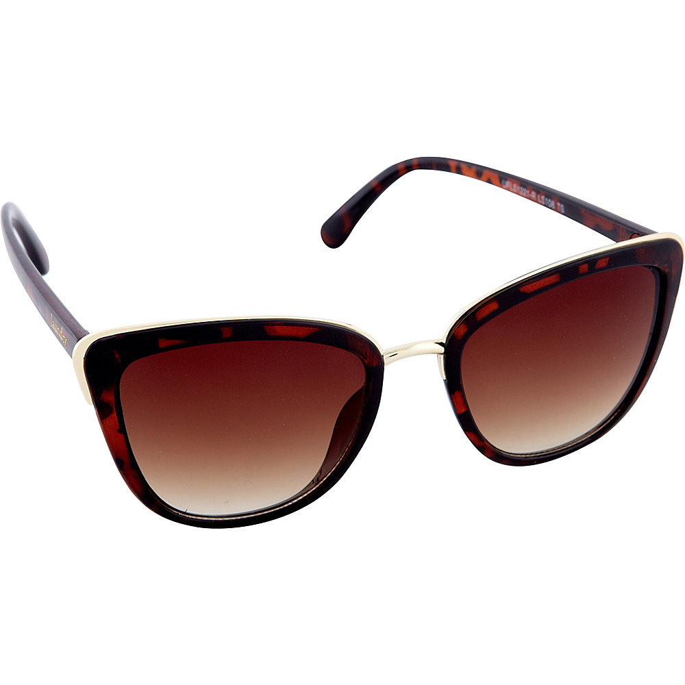 Laundry by Shelli Segal Sunglasses Cat Eye with Metal Accents Sunglasses Tortoise - Laundry by Shelli Segal Sunglasses Sunglasses