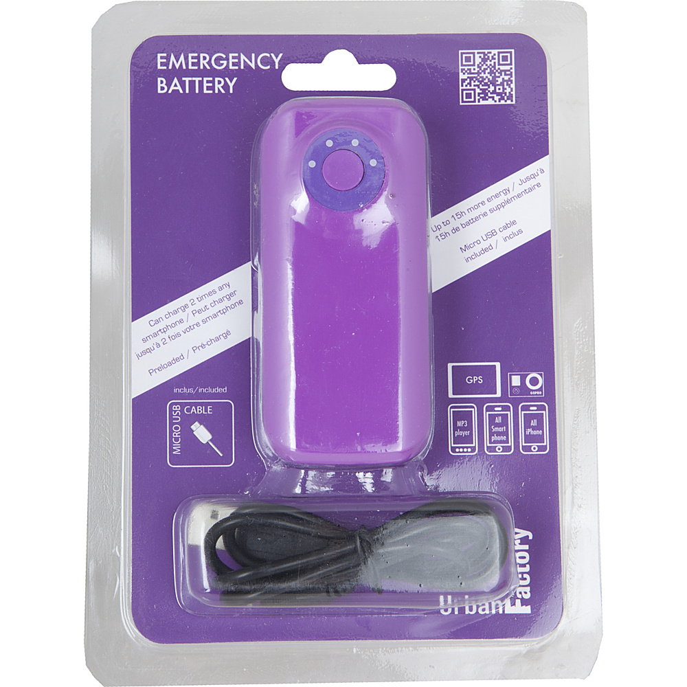 Urban Factory Emergency Battery Powerbank 4400 mAh Dark Purple Urban Factory Portable Batteries Chargers