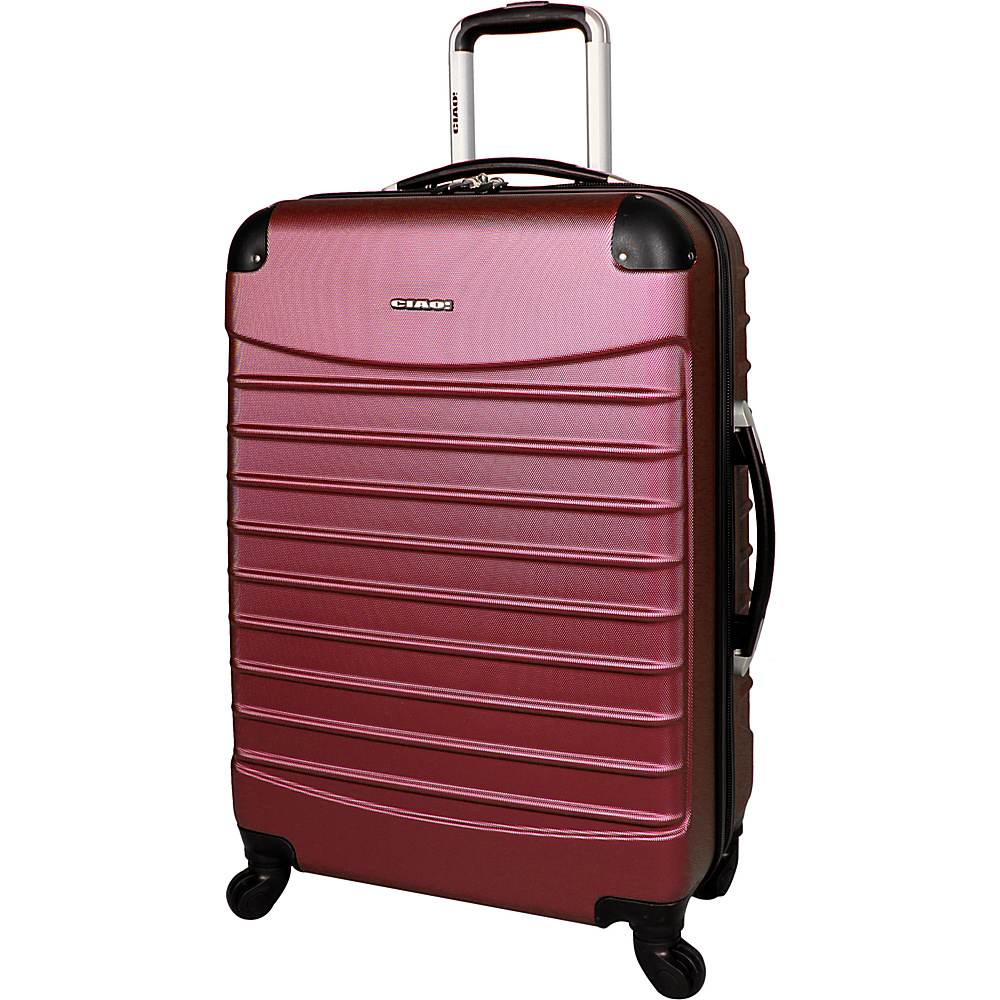 "CIAO! Voyager 24"" Spinner Burgundy - CIAO! Hardside Luggage"