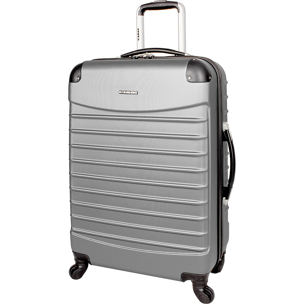 "CIAO! Voyager 24"" Spinner Silver - CIAO! Hardside Luggage"