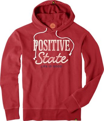 Life is good Mens Go To Hoodie Rich Red - Extra Large - Life is good Men's Apparel