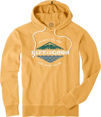 Life is good Mens Go To Hoodie Antique Gold - Extra Large - Life is good Men's Apparel