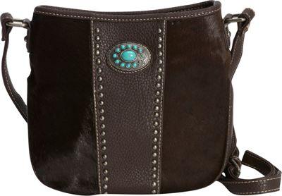 Montana West Calf Hair Crossbody Coffee - Montana West Manmade Handbags