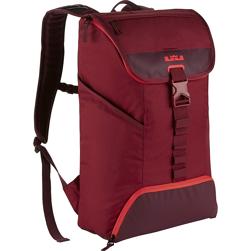 Nike Lebron Ambassador Max Air Backpack Team Red Night Maroon Lt Crimson Nike Business Laptop Backpacks