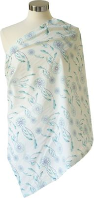 Itzy Ritzy Nursing Happens Muslin Infinity Breastfeeding Scarf Sweet Dreamcatcher Blue - Itzy Ritzy Diaper Bags & Accessories