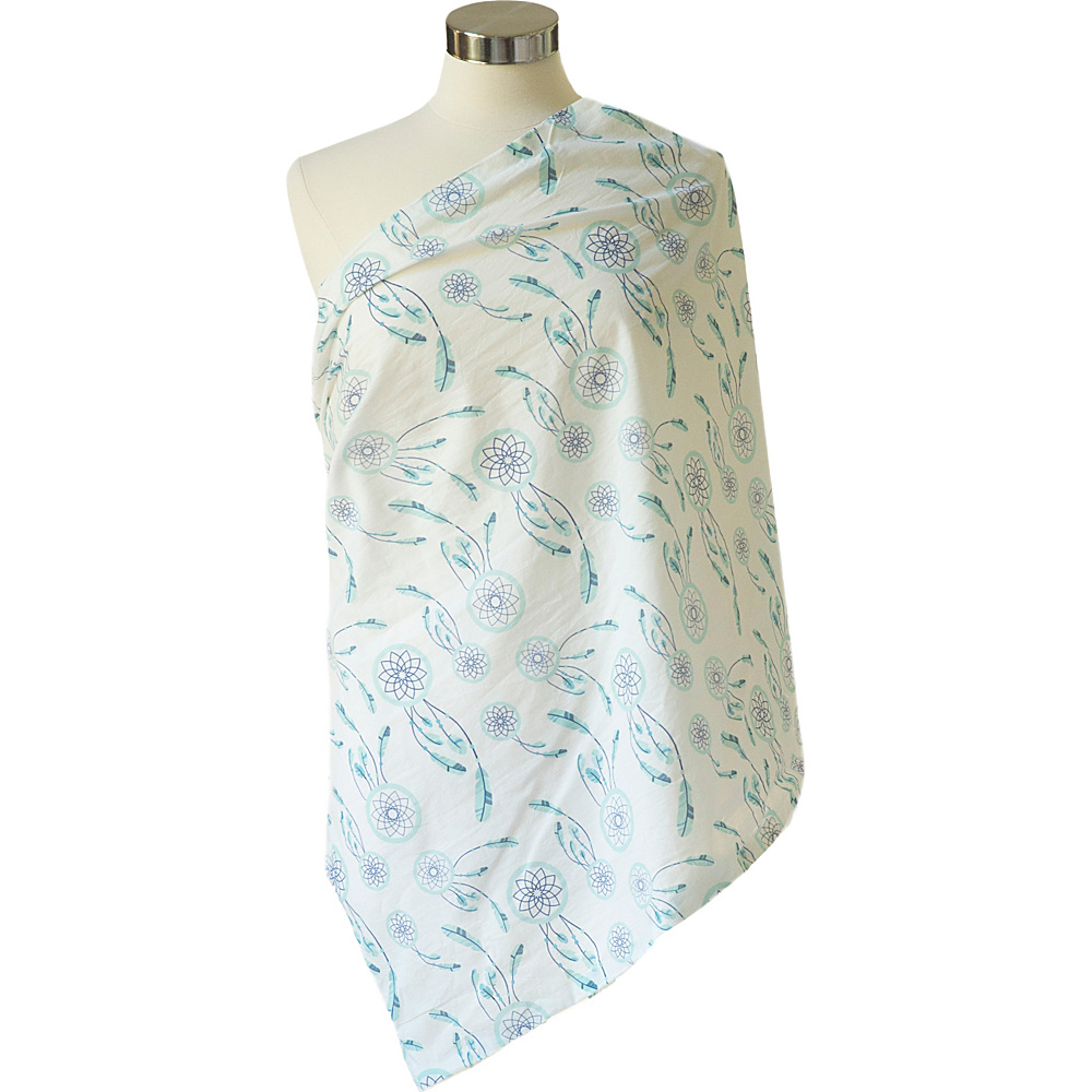 Itzy Ritzy Nursing Happens Muslin Infinity Breastfeeding Scarf Sweet Dreamcatcher Blue Itzy Ritzy Diaper Bags Accessories