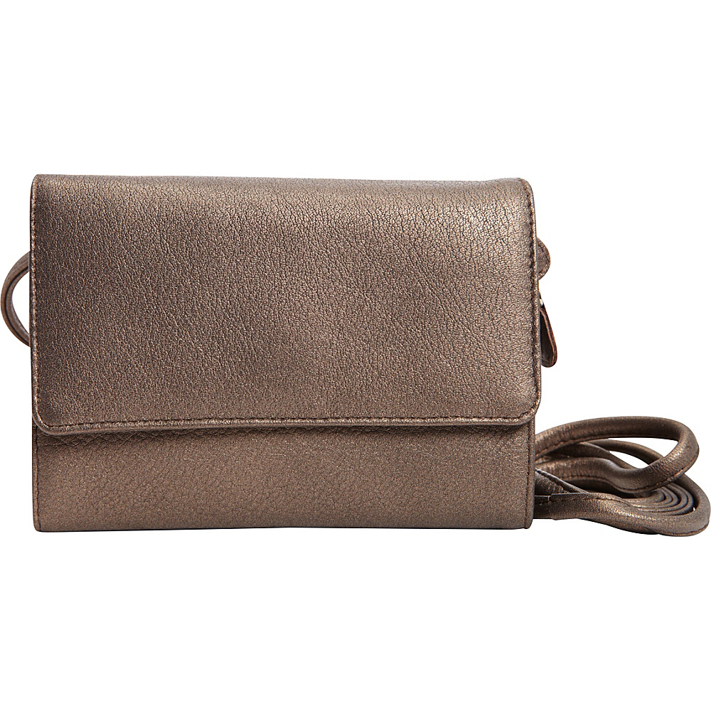 Derek Alexander Half Flap Wallet/Phone Bronze - Derek Alexander Womens Wallets - Women's SLG, Women's Wallets