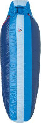 Big Agnes Lost Ranger 15 Sleeping Bag Blue Stripe - Long Left - Big Agnes Outdoor Accessories