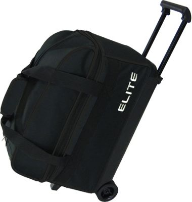Elite Bowling Basic Double Roller Bowling Bag Black - Elite Bowling Ski and Snowboard Bags