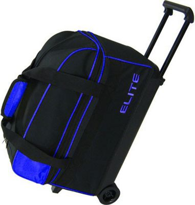 Elite Bowling Basic Double Roller Bowling Bag Black/Blue - Elite Bowling Ski and Snowboard Bags