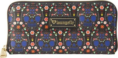 Loungefly Bright Sugar Skull Printed Pebble Wallet Blue/Multi - Loungefly Women's Wallets