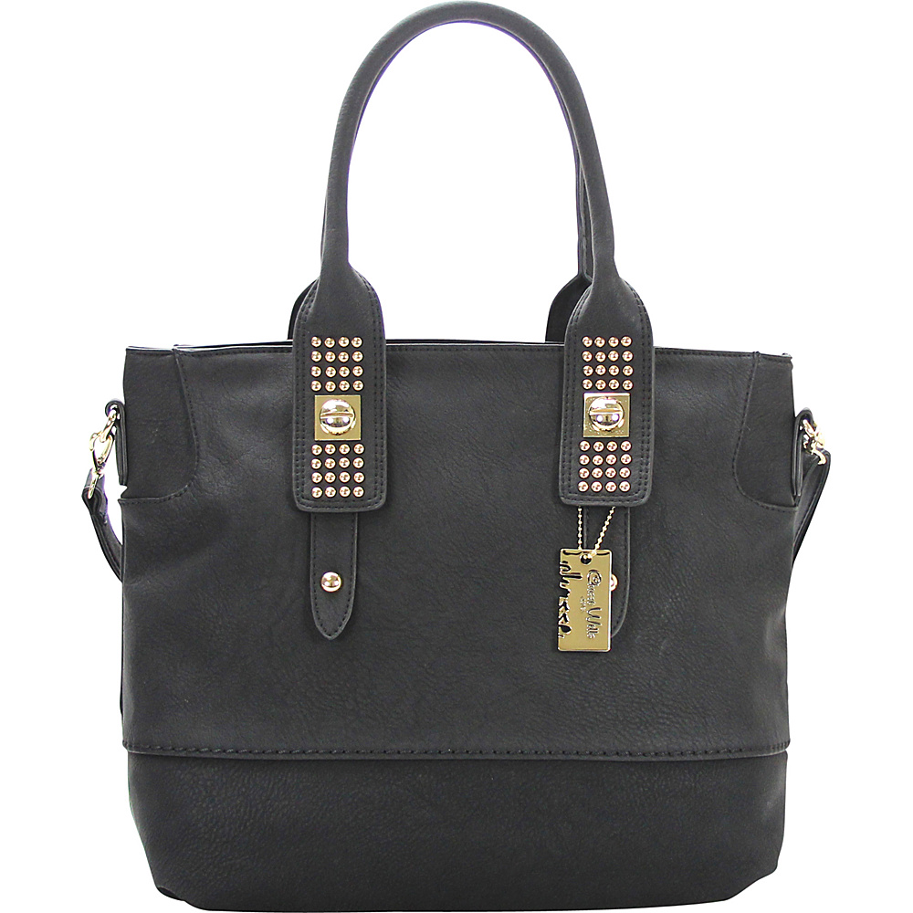 Chasse Wells Aimer Bouclier Tote Black Chasse Wells Manmade Handbags