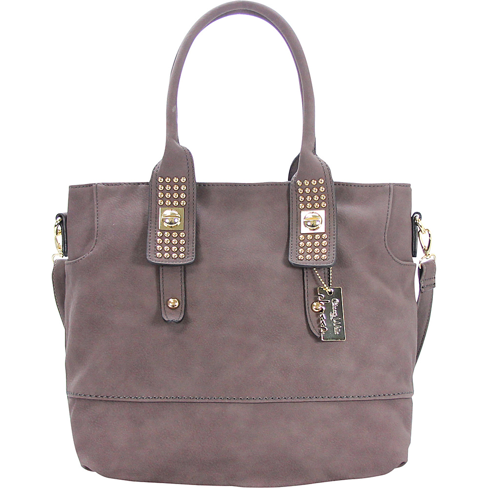 Chasse Wells Aimer Bouclier Tote Gray Chasse Wells Manmade Handbags