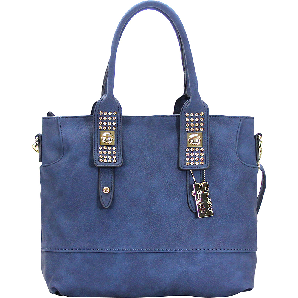 Chasse Wells Aimer Bouclier Tote Navy Chasse Wells Manmade Handbags