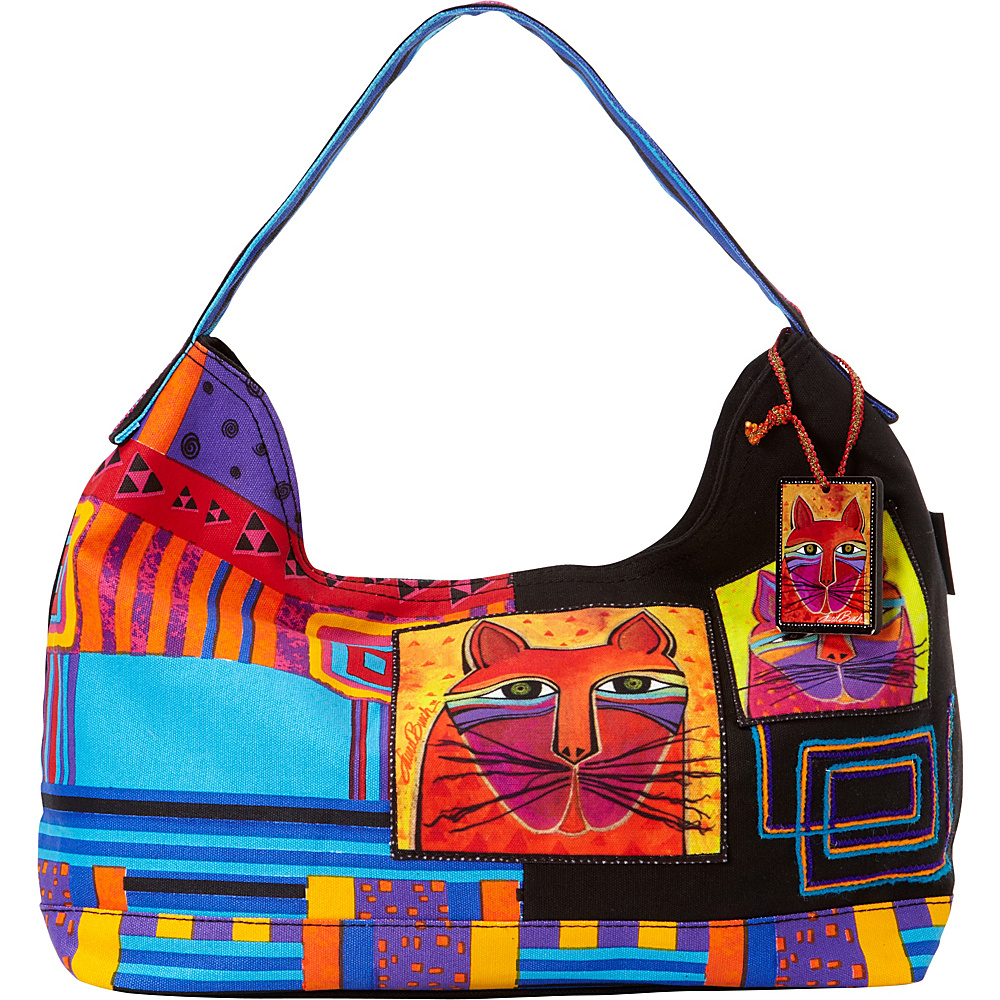 Laurel Burch Whiskered Cats Hobo Multi Laurel Burch Fabric Handbags