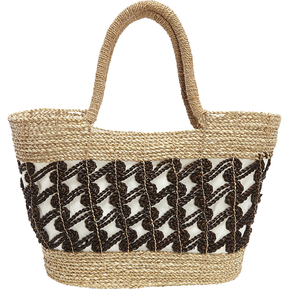 TLC you Kaycee Tote Natural Brown TLC you Fabric Handbags