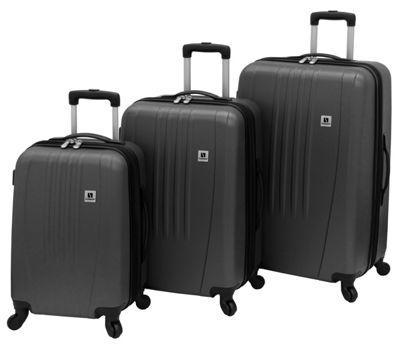 Leisure Luggage Madison 360 3-Piece Hardside Set Charcoal - Leisure Luggage Luggage Sets
