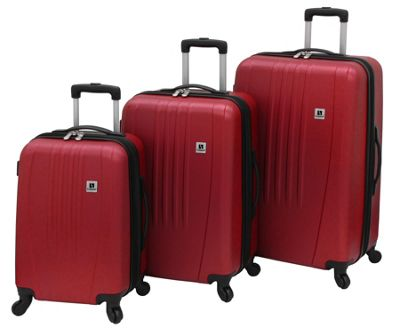 Leisure Luggage Madison 360 3-Piece Hardside Set Red - Leisure Luggage Luggage Sets