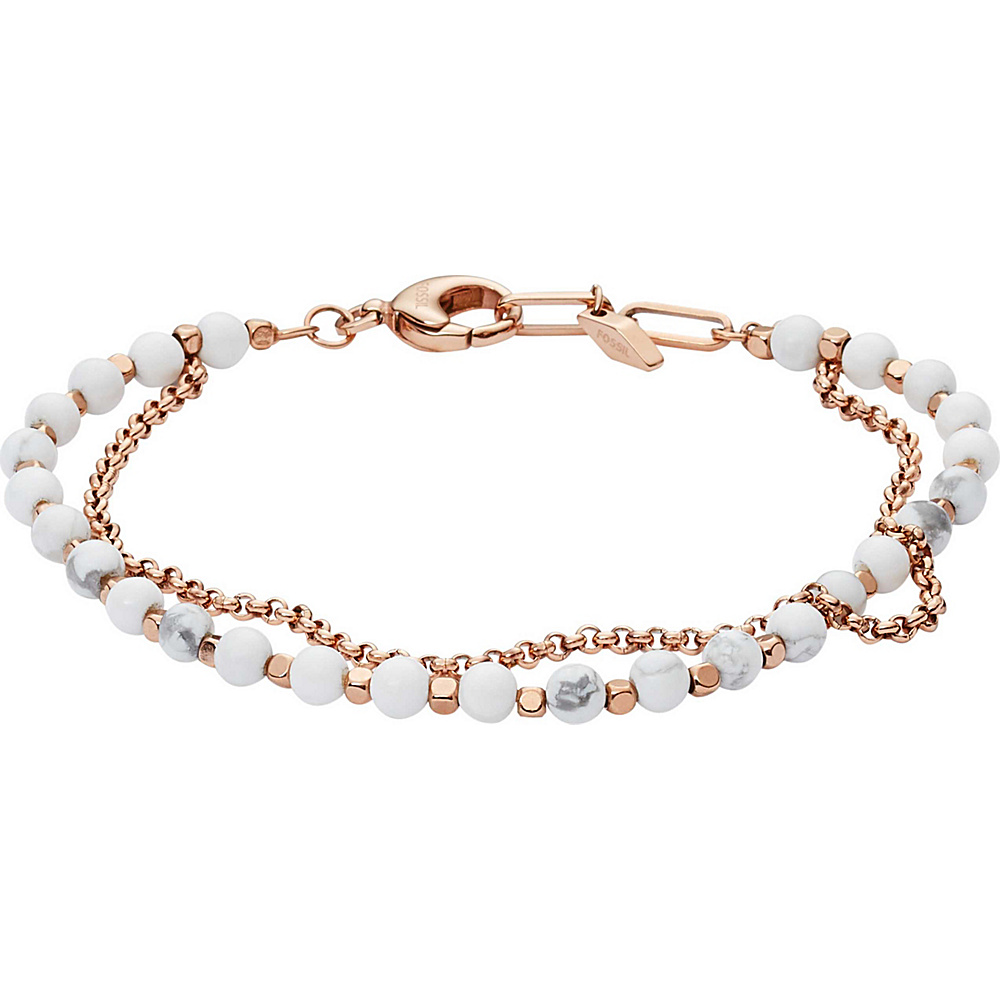 Fossil Multi-Beaded Bracelet Rose Gold - Fossil Other Fashion Accessories - Fashion Accessories, Other Fashion Accessories