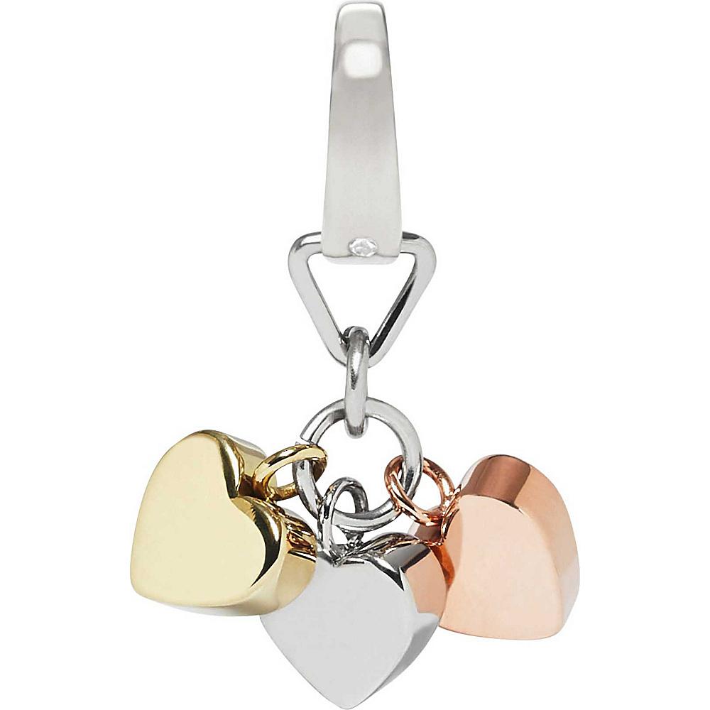 Fossil Tri-Tone Heart Charm Silver Multi - Fossil Other Fashion Accessories - Fashion Accessories, Other Fashion Accessories
