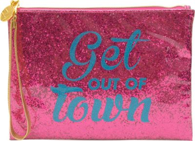Flight 001 Glitter Pouch Out of Town - Pink - Flight 001 Leather Handbags