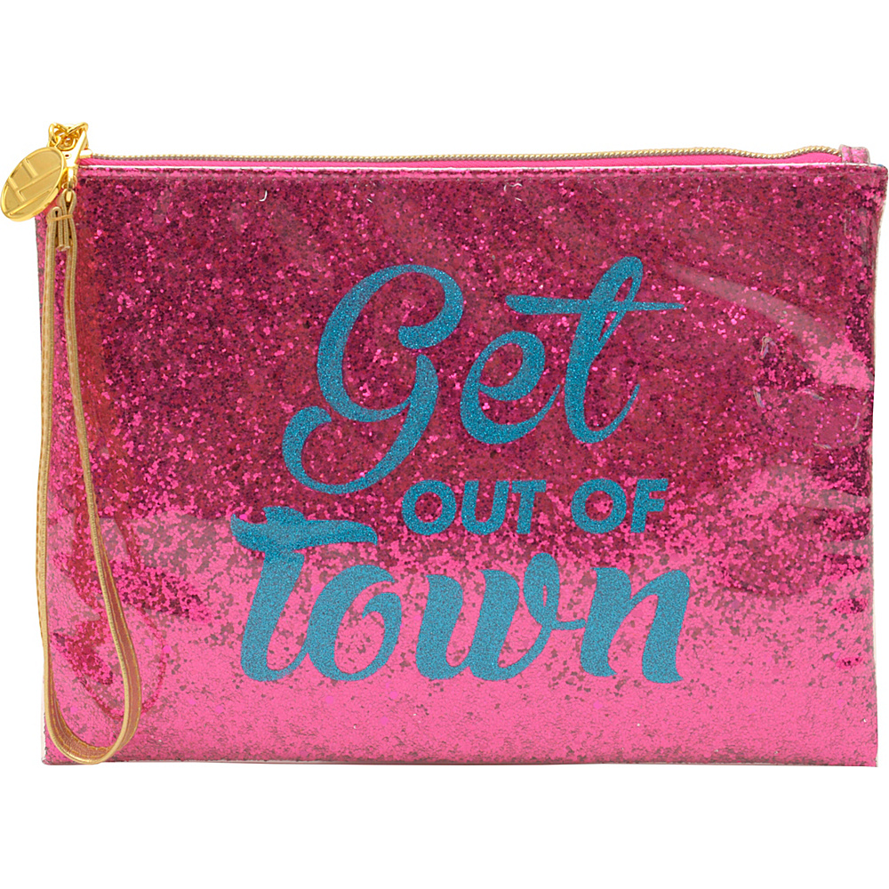 Flight 001 Glitter Pouch Out of Town Pink Flight 001 Manmade Handbags