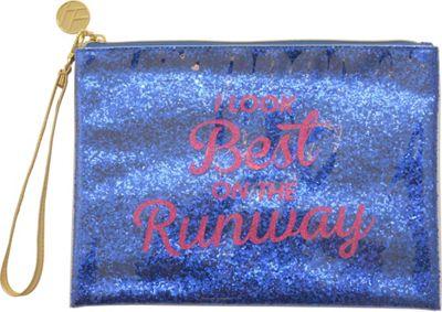 Flight 001 Glitter Pouch Runaway - Blue - Flight 001 Leather Handbags