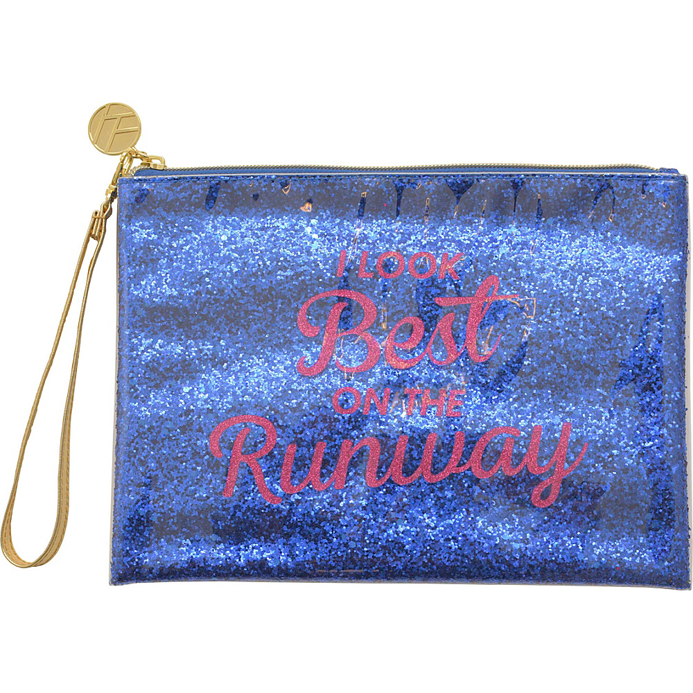 Flight 001 Glitter Pouch Runaway Blue Flight 001 Manmade Handbags