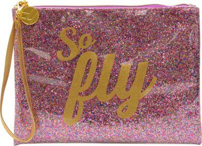 Flight 001 Glitter Pouch So Fly - Multi - Flight 001 Leather Handbags