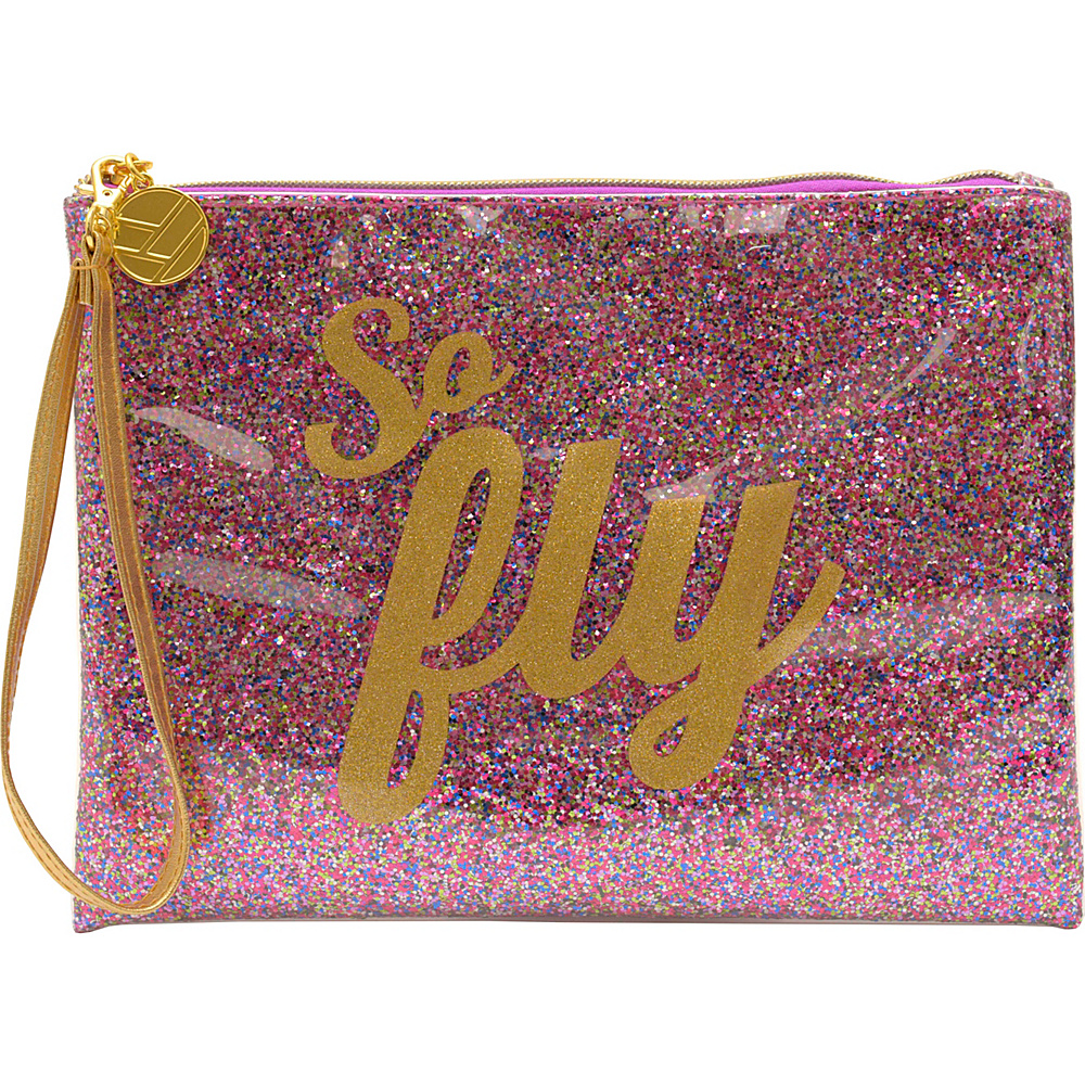 Flight 001 Glitter Pouch So Fly Multi Flight 001 Manmade Handbags