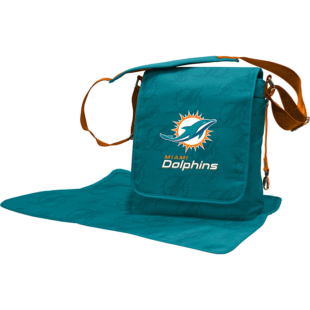 Lil Fan NFL Messenger Bag Miami Dolphins - Lil Fan Diaper Bags & Accessories