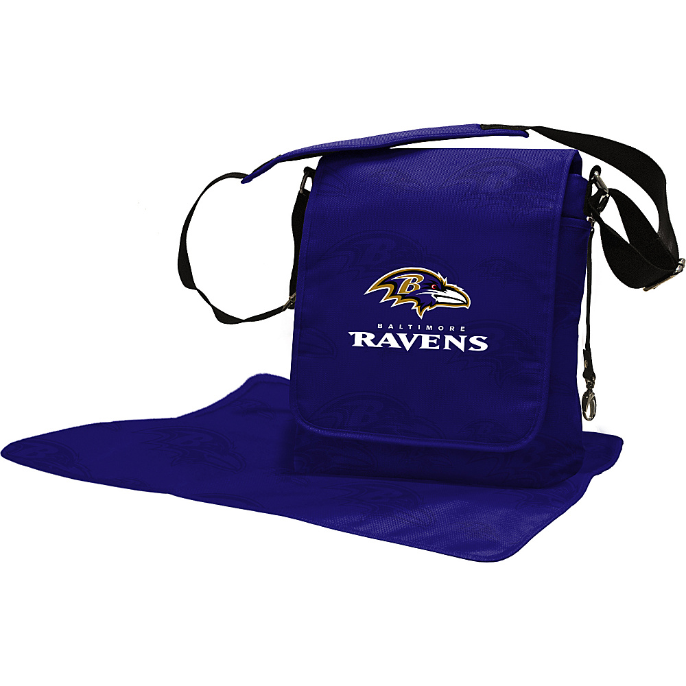 Lil Fan NFL Messenger Bag Baltimore Ravens - Lil Fan Diaper Bags & Accessories
