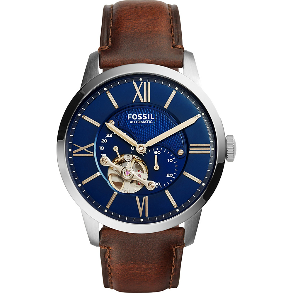 Fossil Townsman Automatic Leather Watch Brown - Fossil Watches - Fashion Accessories, Watches