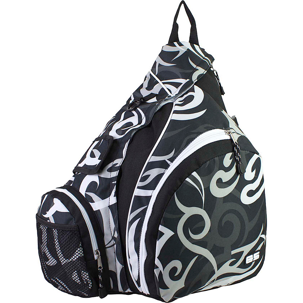 Eastsport Triple Zip Trapezoid Backpack Swirl Print Eastsport Slings