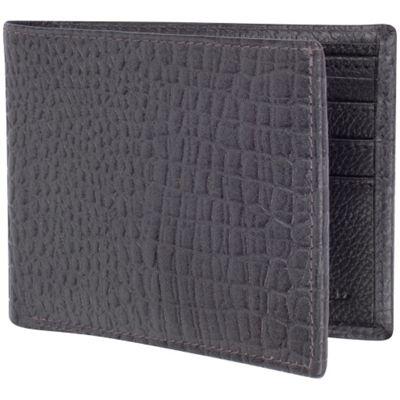 Access Denied Men's RFID Blocking Wallet Leather Bifold Slim Grey Alligator - Access Denied Men's Wallets