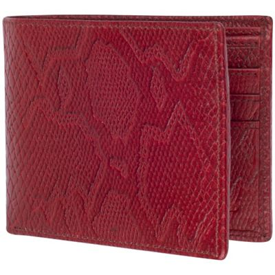 Access Denied Men's RFID Blocking Wallet Leather Bifold Slim Cognac Snake - Access Denied Men's Wallets
