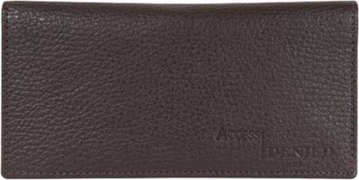 Access Denied RFID Blocking Pebble Leather Checkbook Cover with 6 Credit Card Slots Dark Brown - Access Denied Women's Wallets