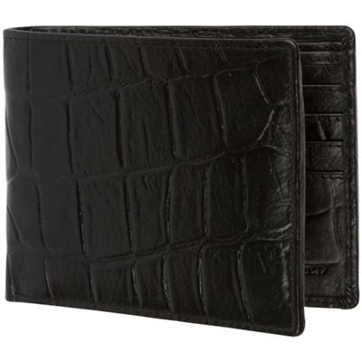 Access Denied Men's RFID Blocking Wallet with Removable ID Mini Wallet Genuine Leather Black Crocodile - Access Denied Men's Wallets