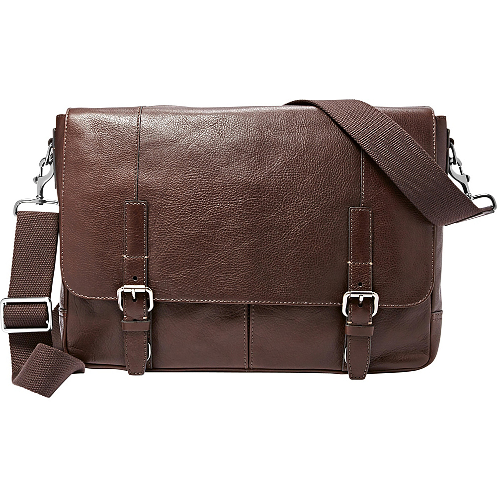 Fossil Graham EW Messenger Dark Brown - Fossil Messenger Bags - Work Bags & Briefcases, Messenger Bags
