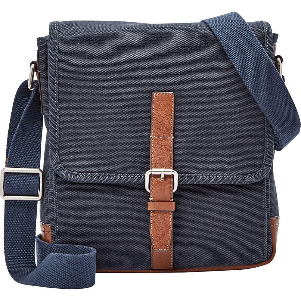 Fossil Davis NS City Navy - Fossil Messenger Bags - Work Bags & Briefcases, Messenger Bags