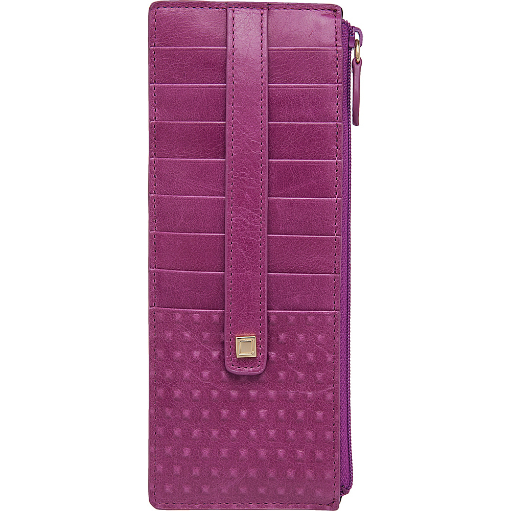 Lodis Cadiz Credit Card Case With Zipper Pocket Iris - Lodis Womens Wallets - Women's SLG, Women's Wallets